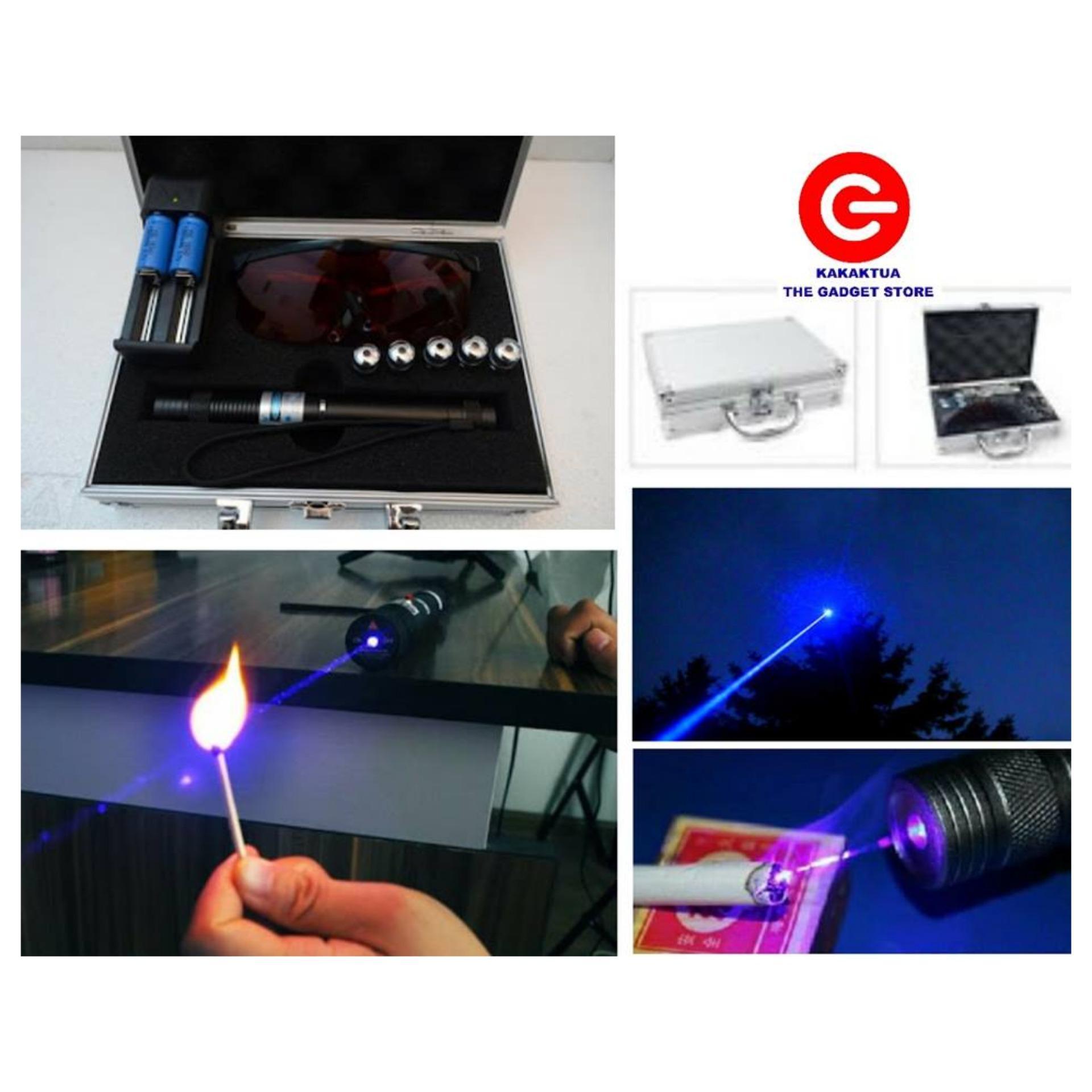 Burning Laser Blue High Beam Pointer Biru Bakar Sinar Membakar Led Burn