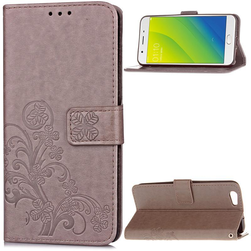 BYT Flower Debossed Leather Flip Cover Case for Oppo A59 / Oppo F1s- intl