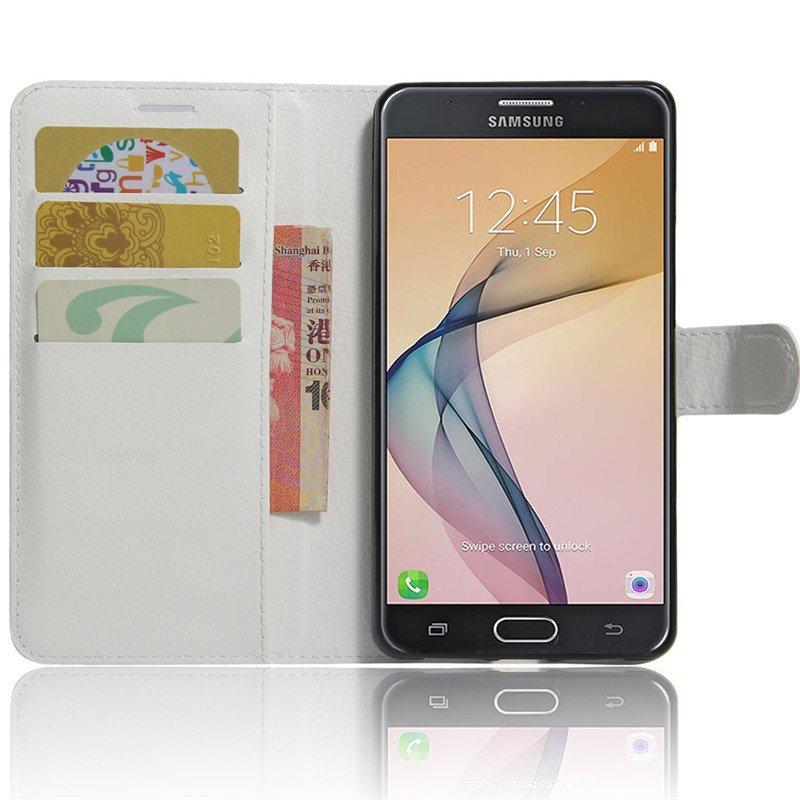 ... BYT penutup kulit Flip Case Untuk Samsung Galaxy J7 Perdana (putih) ...