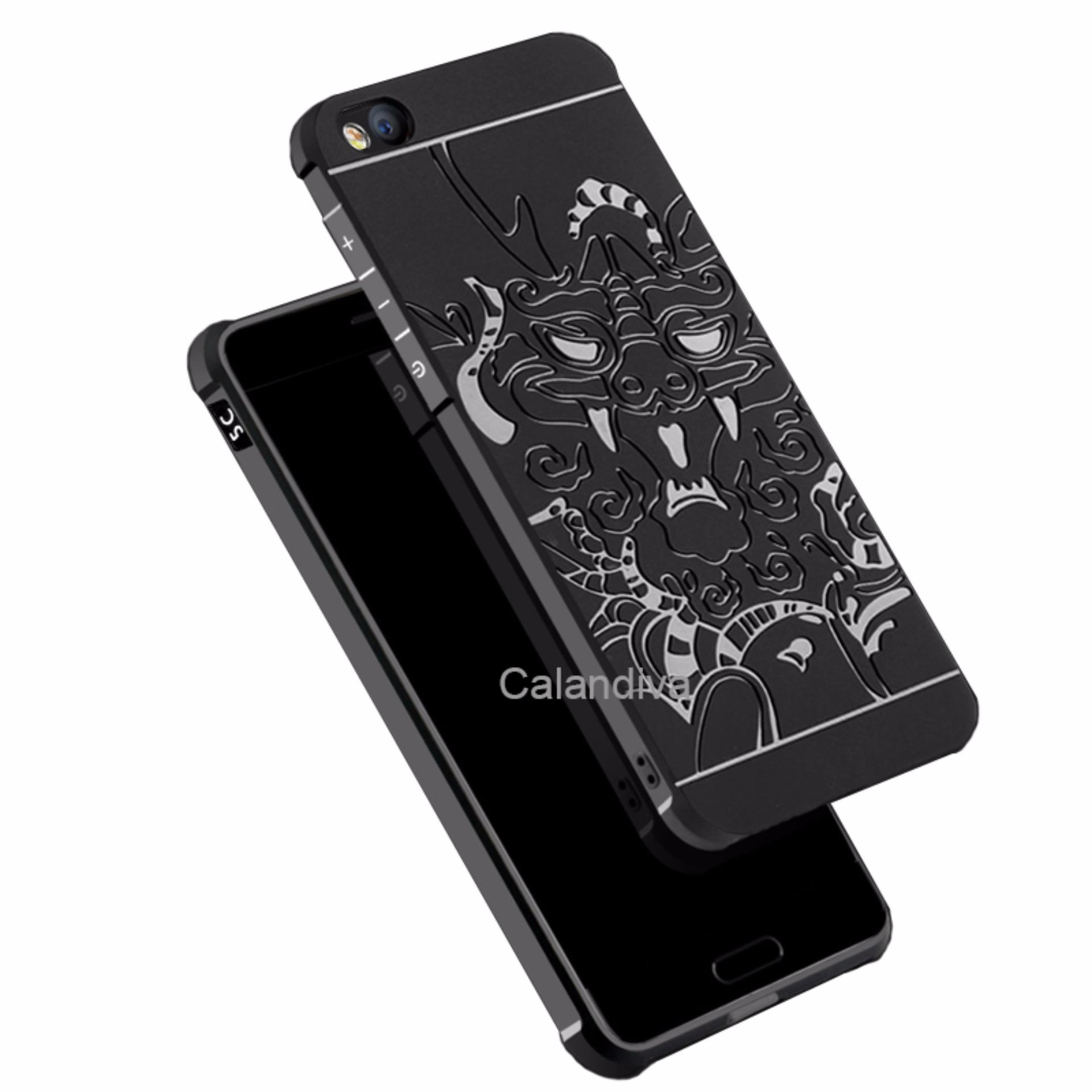 ... Calandiva Dragon Shockproof Hybrid Case for Xiaomi MI 5C Hitam Rounded
