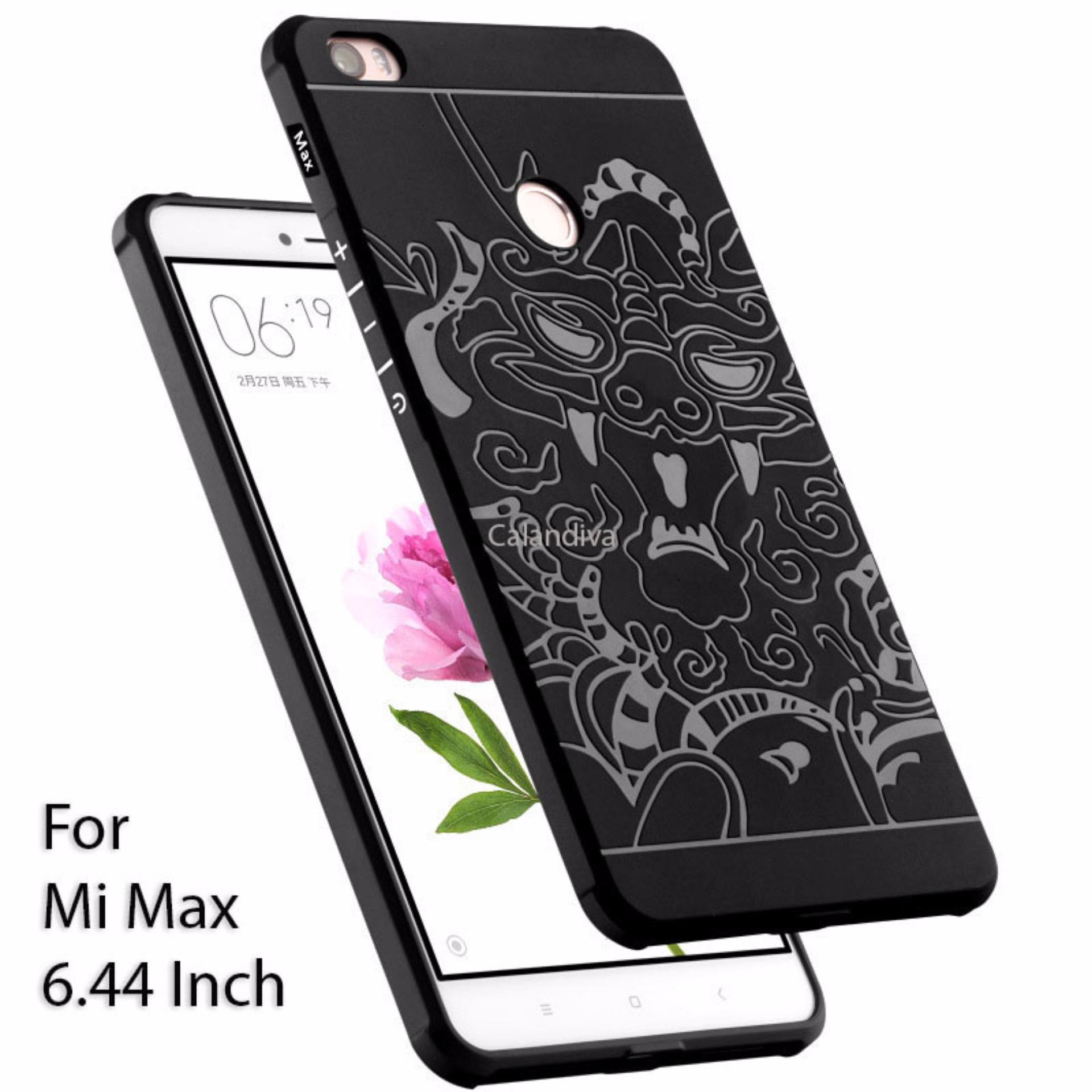... Calandiva Dragon Shockproof Hybrid Case for Xiaomi Mi Max 6 44 Inch Hitam