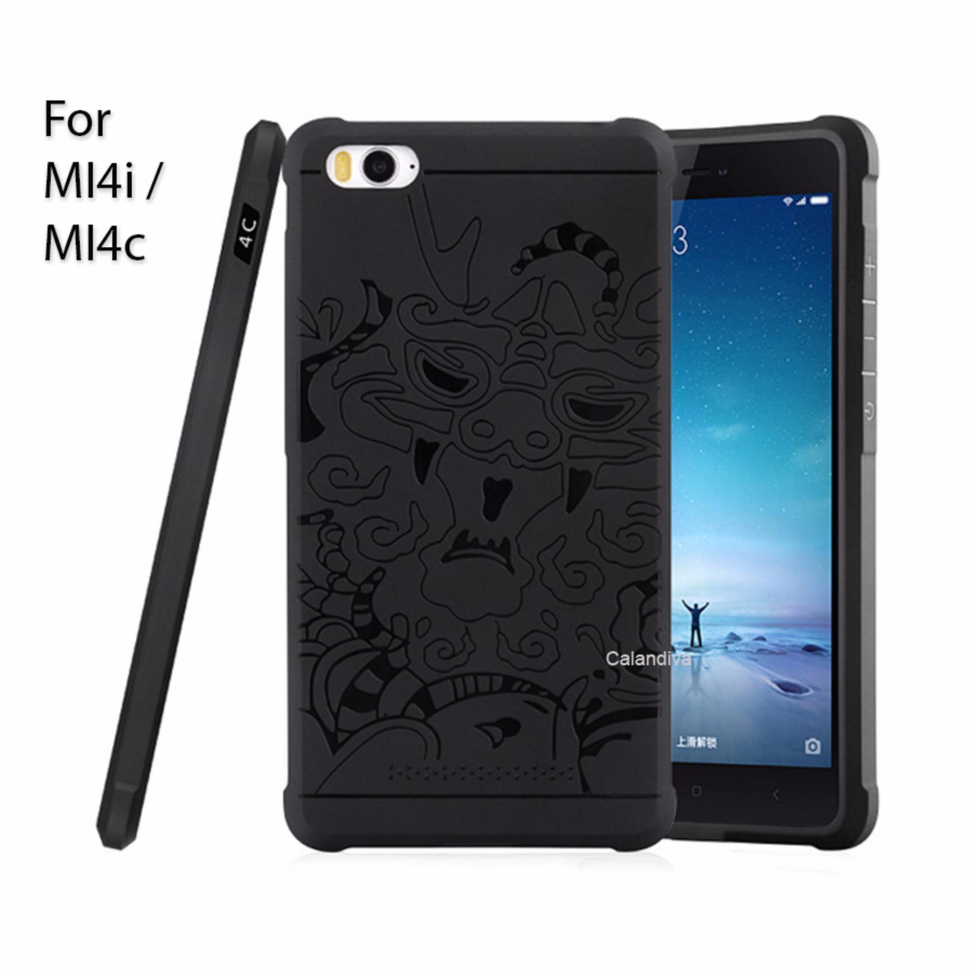 ... Calandiva Dragon Shockproof Hybrid Case for Xiaomi MI4i / MI4c - Hitam ...