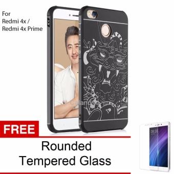 BELI SEKARANG Calandiva Dragon Shockproof Hybrid Case for Xiaomi Redmi 4X Redmi 4X Prime 50 inch
