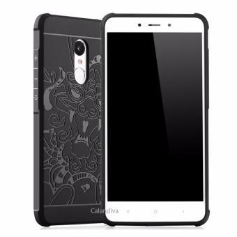 Calandiva Dragon Shockproof Hybrid Case for Xiaomi Redmi Note 4 Mediatek / Redmi Note 4x Mediatek - Hitam - 3