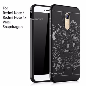 Calandiva Dragon Shockproof Hybrid Case for Xiaomi Redmi Note 4X / Redmi Note 4 versi Snapdragon 5.5 inch - Hitam