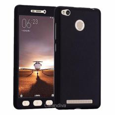 Calandiva Front Back 360 Degree Full Protection Case With Tempered Glass for Xiaomi Redmi 3 Pro