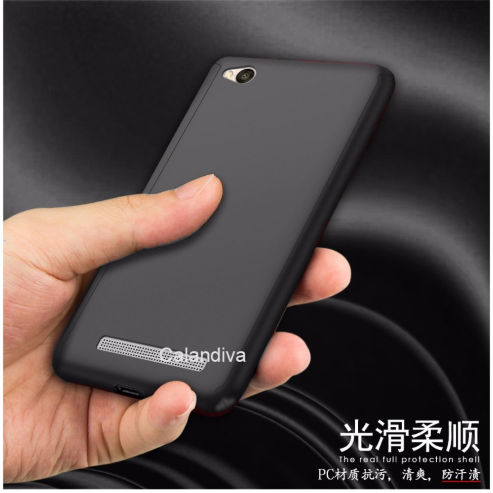 Calandiva Front Back 360 Degree Full Protection Case With Tempered Glass for Xiaomi .