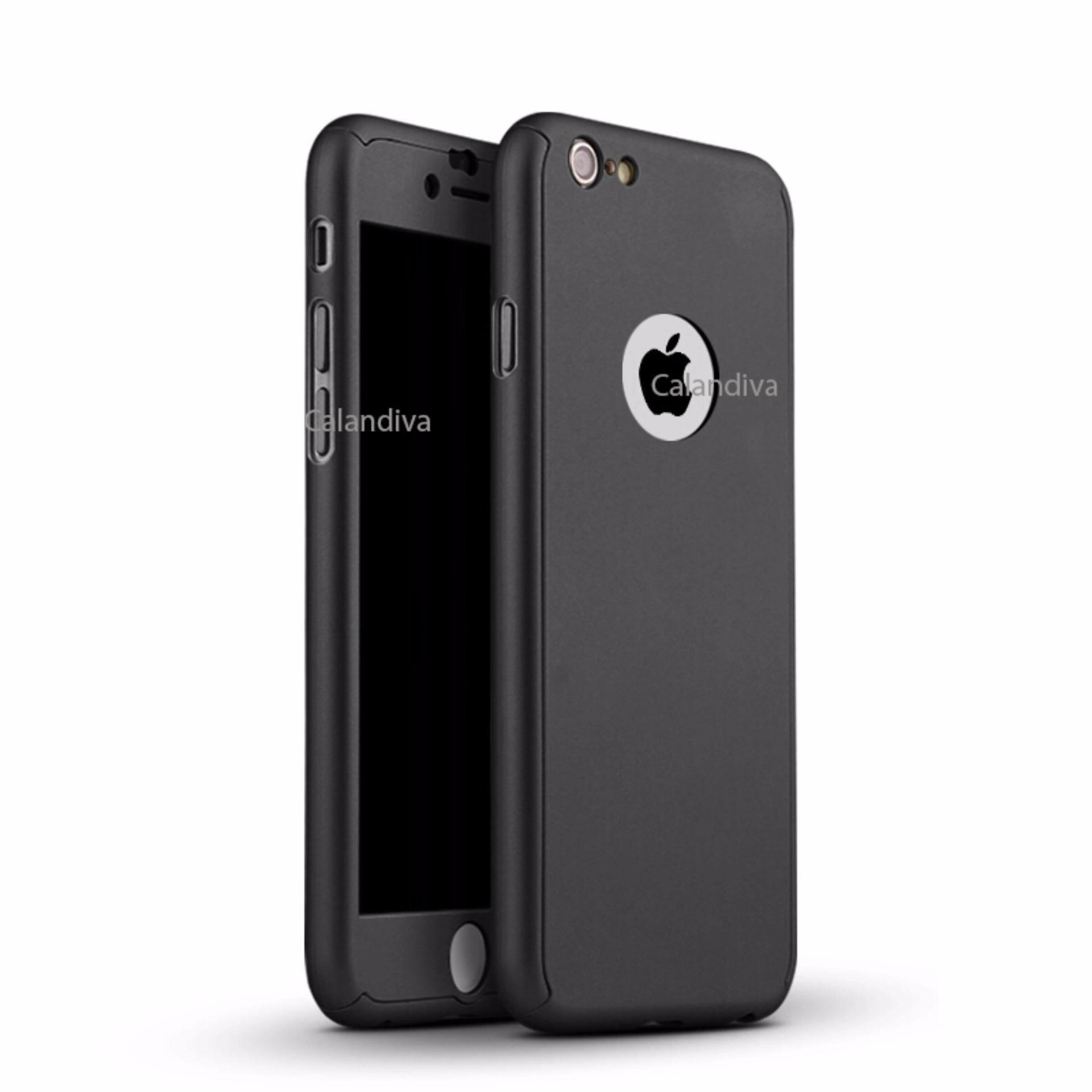 Calandiva Front Back Protection Case 360 Degree With Tempered Glass for Iphone 6 6s 4 7
