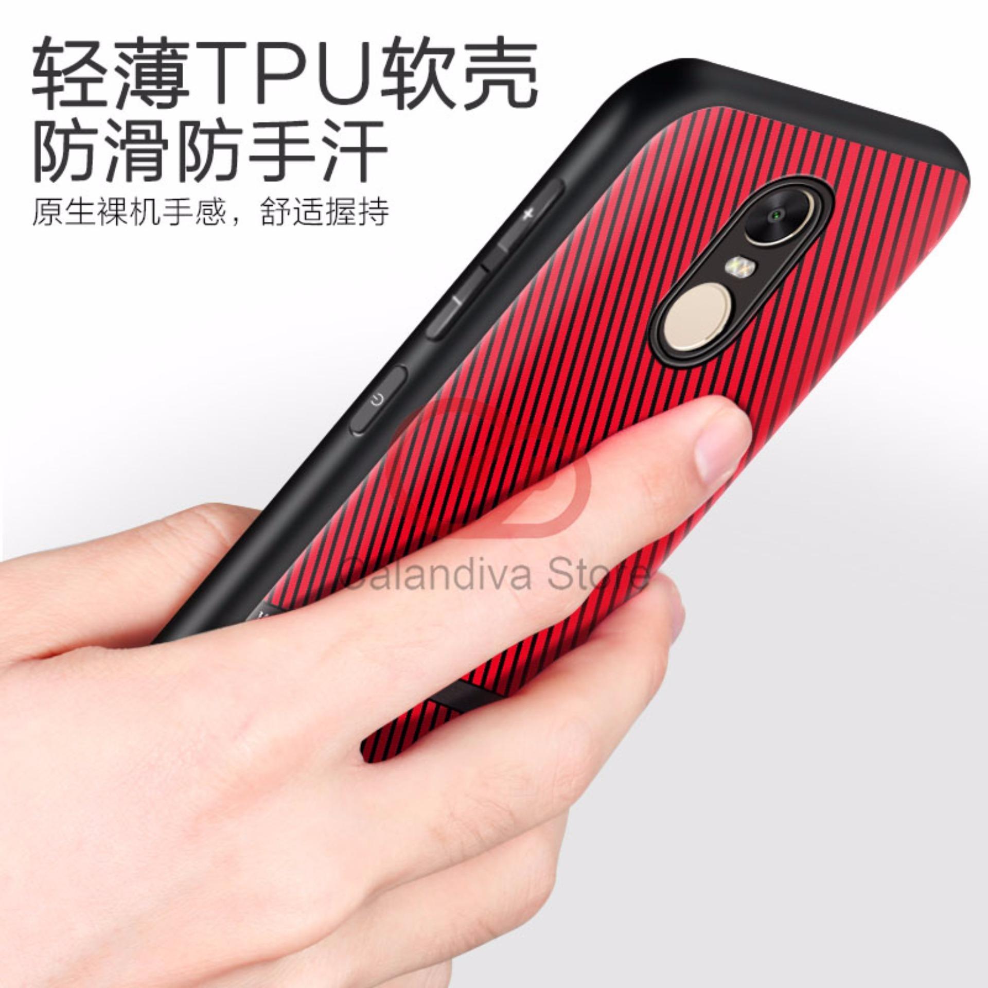 Calandiva Gentleman Series Shockproof Hybrid Case for Xiaomi Redmi Note 4 Mediatek /