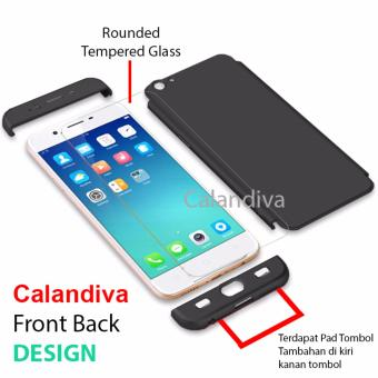 Harga Calandiva Premium Front Back 360 Degree Full Protection Case for OPPO A39 Black + Tempered Glass Terbaru klik gambar.
