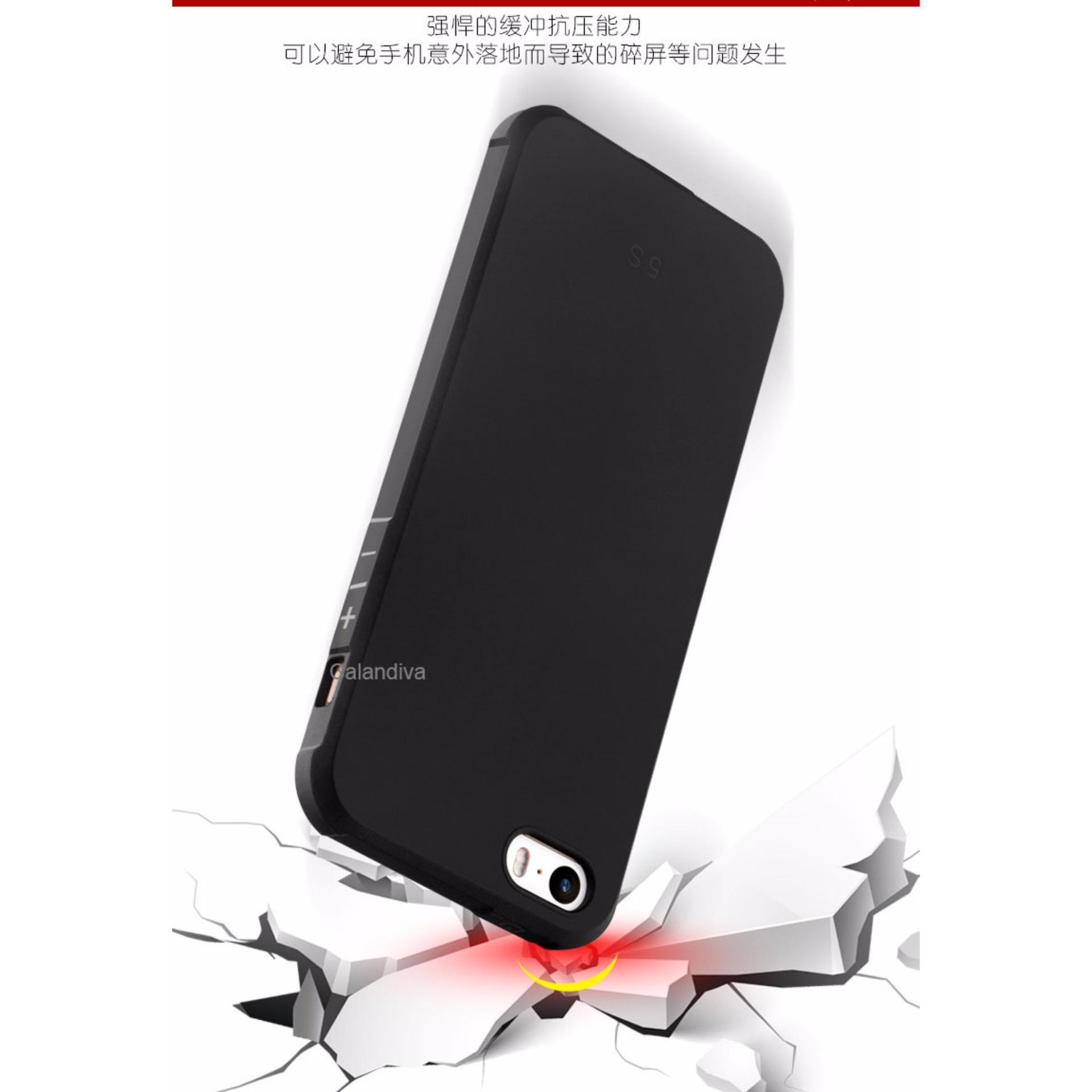 Calandiva Shockproof Hybrid Case for Iphone 5 / 5s / 5 SE 4 .