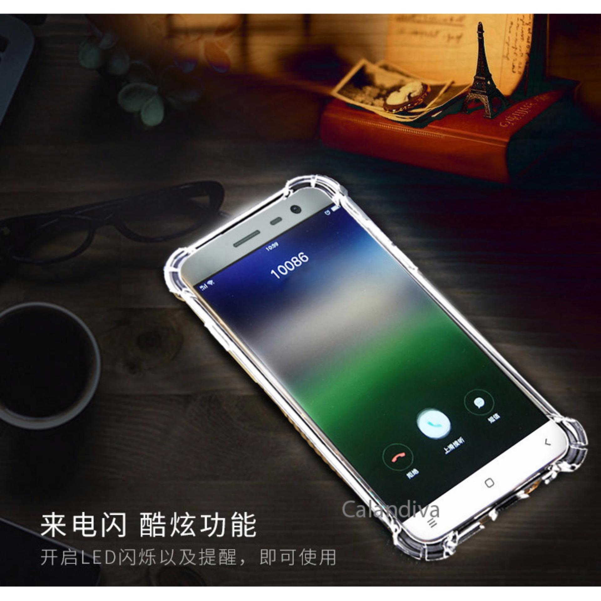 Calandiva Shockproof TPU Ultrathin Case untuk Xiaomi Redmi 4 - Clear .