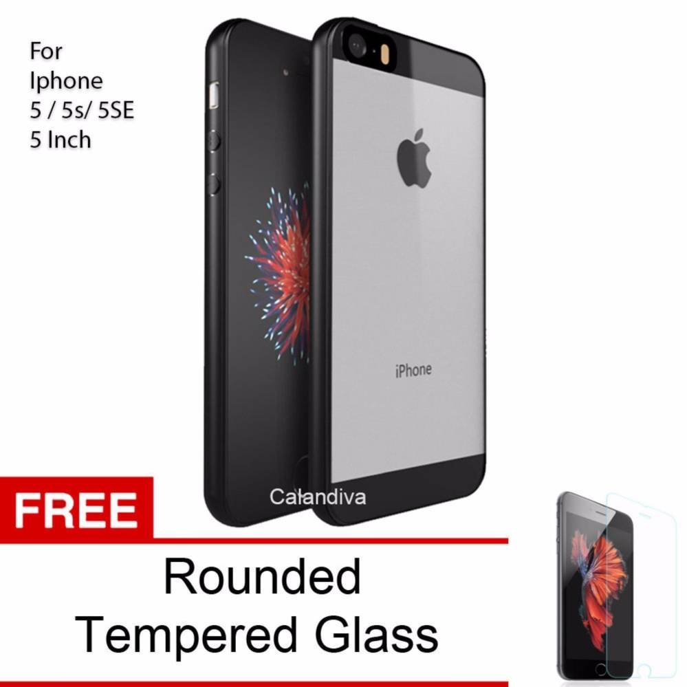 ... INCH HITAM ROUNDED TEMPERED GLASS ... Calandiva Transparent Shockproof Hybrid Premium Quality Grade A Case for Iphone 5 /