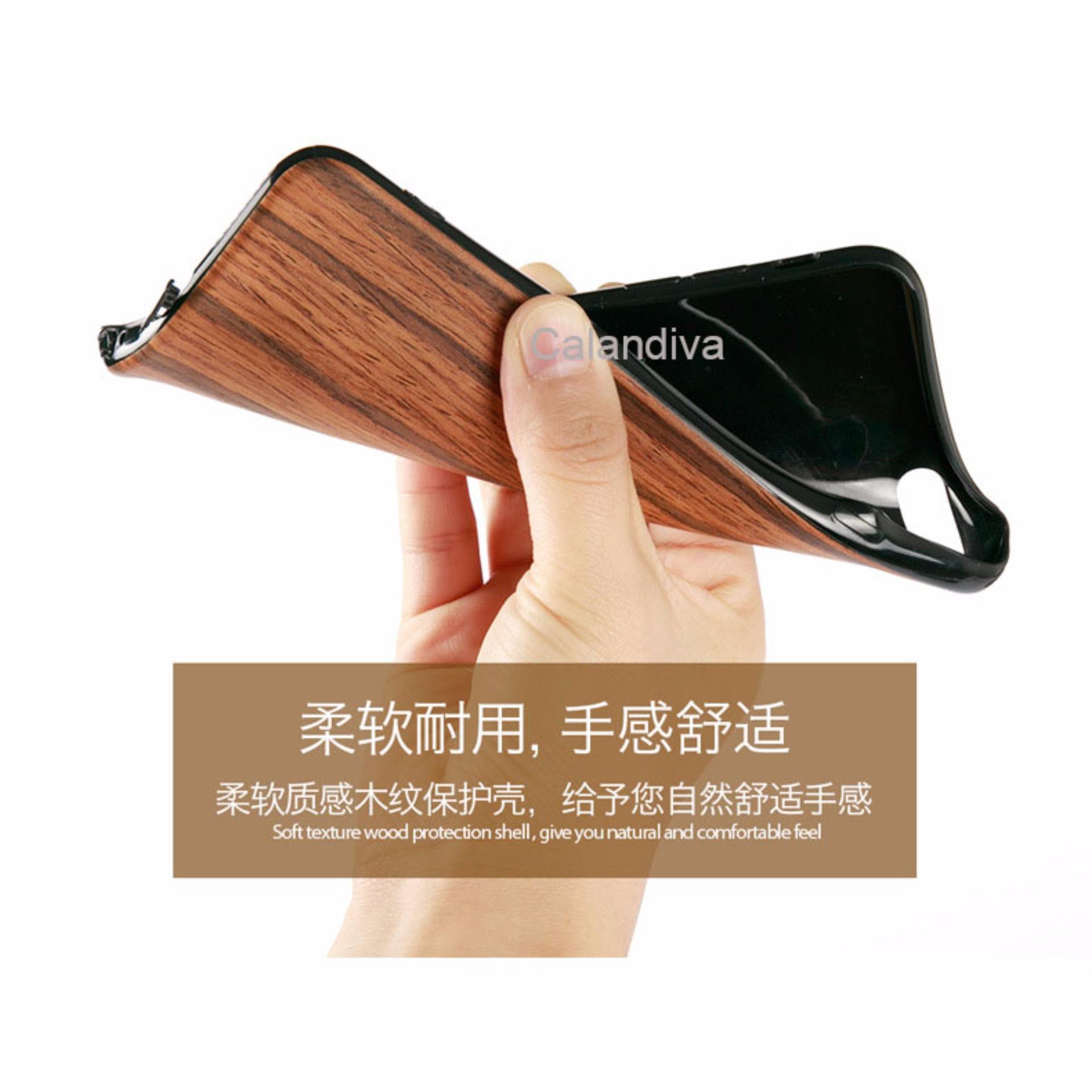 Calandiva Wood Texture Slim Softcase for Xiaomi Redmi Note 3 / Prime / Pro Versi Kenzo ...