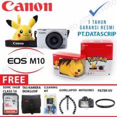 Canon EOS M10 / Canon M10 Kit 15-45mm Paket Dahsyat 16gb