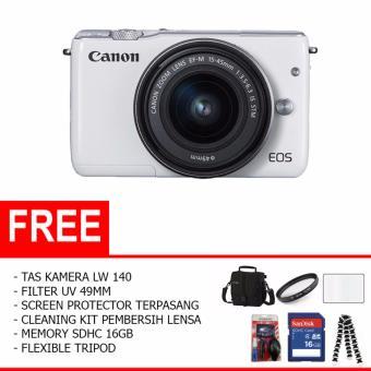 Canon EOS M10 Kit 1 15-45mm f/3.5-6.3 IS STM (Paket Lengkap)