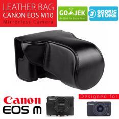 Canon EOS M10 Leather Bag / Case / Tas Kulit Kamera Mirrorless 15-45 MM / 18-55 MM - Hitam