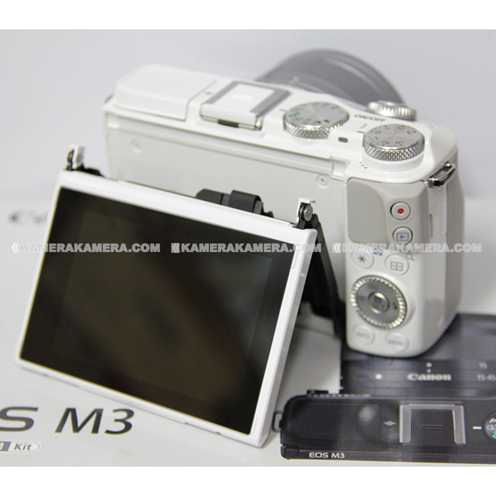Harga Penawaran Canon Eos M3 Ef M15 45 Is Stm Kit White 242mp M10 15 45mm 18 Mp Hitam 242
