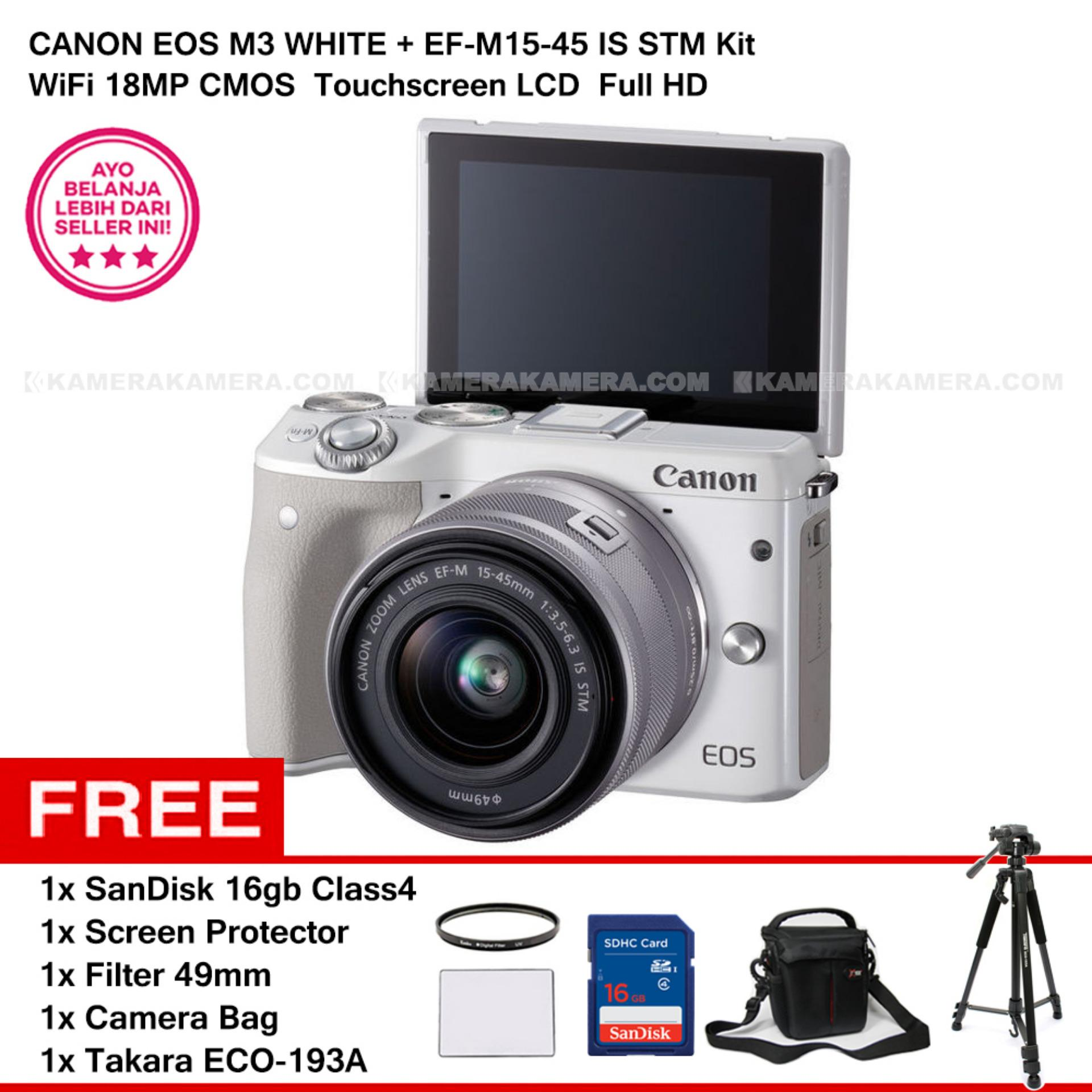 CANON EOS M3 + EF-M15-45 IS STM KIT (WHITE) 24.2