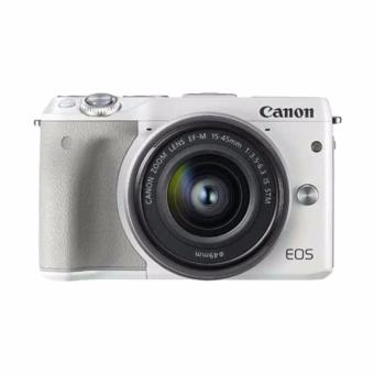 Canon - EOS M3 EF-M15-45 IS STM - Putih (Resmi Canon)
