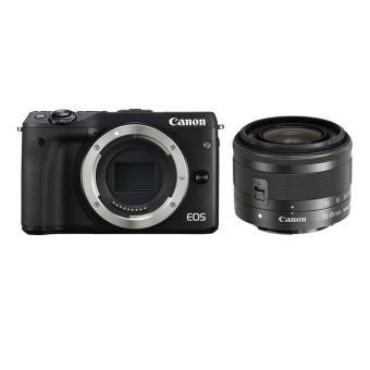 Canon EOS M3 Kit EF-M15-45mm - HITAM