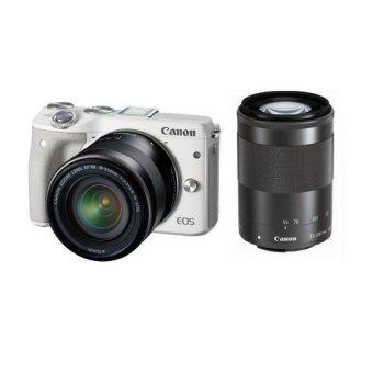 Canon EOS M3 Kit EF-M18-55 + EF-M55-200 IS STM - Putih