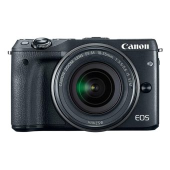 Canon EOS M3 Kit with lens EF-M15-45 IS STM - Hitam