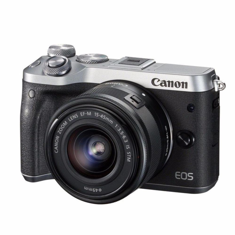 Canon EOS M6 Kit 15-45mm - Silver - Kamera Mirrorless