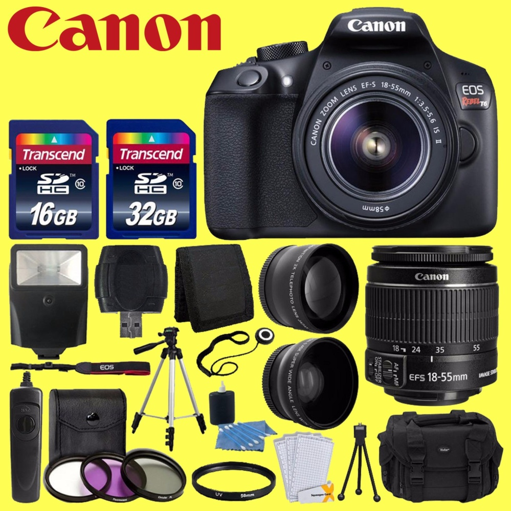Flash Sale Canon Eos Rebel T6 Digital Slr Camera With 18 55mm Ef S F 760d Kit 135mm 35 56 Is Stm Wifi