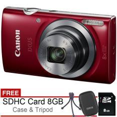 Canon Ixus 185 - 20 MP - Free SDHC 8GB + Case + Tripod