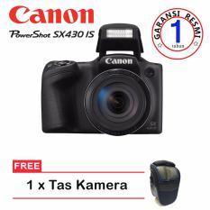Canon PowerShot SX430 IS - 20.5MP - Hitam + Tas Kamera (Garansi Resmi)