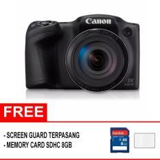 Canon PowerShot SX430 IS Digital Camera ( Paket Hemat ) -  Hitam