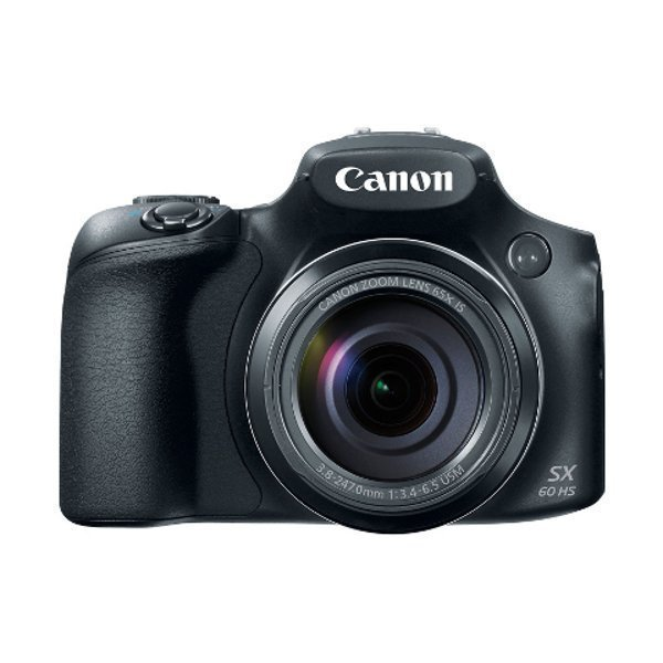 Canon PowerShot SX60 HS - 16.1 MP - 65x Optical Zoom - Hitam