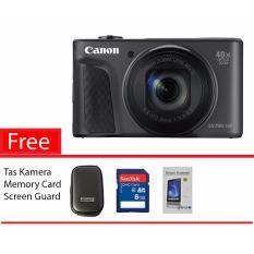 Canon PowerShot SX730 HS Black Free Memory Card, Screen Guard,Tas Kamera