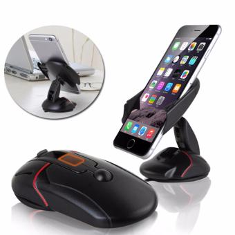 Car Phone Holder Mobil Universal Foldable Model Mouse - Hitam
