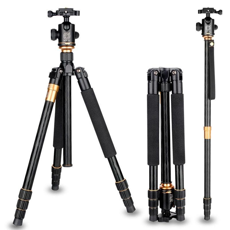 ... Carbon Fiber Q666C Tripod Heavy Duty Lightweight Travel with 360Degree Ball Head Compact for Canon Sony ...