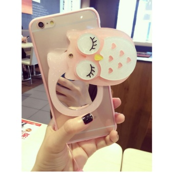 Cartoon cute mirror Case For OPPO A59/F1s(pink+owl) - intl