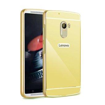 Case Aluminium Bumper Mirror for Lenovo Vibe K4 Note - Gold
