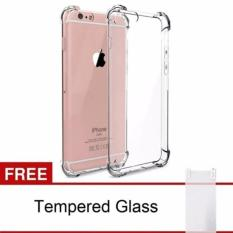Case Anti-Crack Iphone 5 / 5S / 5SE TPU Softcase (Clear) FREE Tempered Glass
