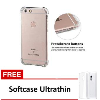 Case Anti Shock / Anti Crack Elegant Softcase for Apple Iphone 5 /5S / 5SE - Clear + Free Softcase Ultrathin