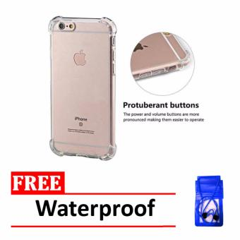 Case Anti Shock / Anti Crack Elegant Softcase for Apple Iphone 6 /6S - Clear + Free Waterproof
