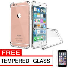 Case Anti Shock / Anti Crack Elegant Softcase  for Apple iPhone 6 Plus - White Clear + Free Tempered Glass