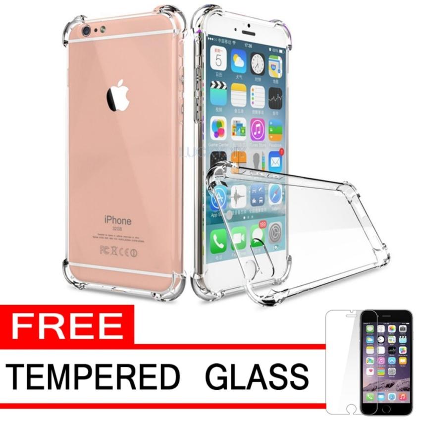 Case Anti Shock / Anti Crack Elegant Softcase for Apple iPhone 6 Plus - White Clear