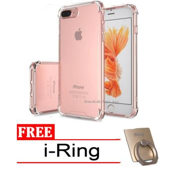 Case Anti Shock / Anti Crack Elegant Softcase for Apple Iphone 7 /7s - Clear + Free i-Ring