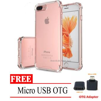 Case Anti Shock / Anti Crack Elegant Softcase for Apple Iphone 7 /7s - Clear + Free Micro USB OTG