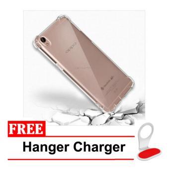 BELI SEKARANG Case Anti Shock Anti Crack Elegant Softcase for Oppo Neo 9 A37- Clear + Free Hanger Charger Klik di sini !!!