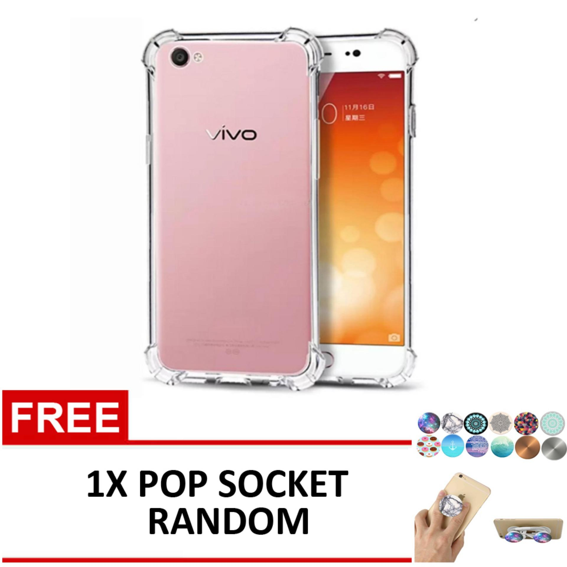 Case Anti Shock / Anti Crack Elegant Softcase for Vivo V5 - Clear .