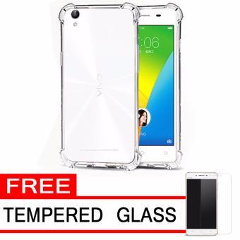 Case Anti Shock / Anti Crack Elegant Softcase for Vivo Y51 - White Clear + Free Tempered Glass ...
