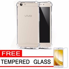 Case Anti Shock / Anti Crack Elegant Softcase for Vivo Y53 - White Clear + Free Tempered Glass