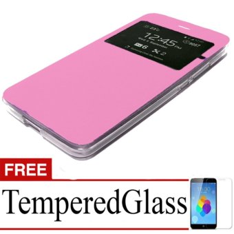 Case Flip Cover For Oppo Neo 3+ Free Temperedglass - Pink